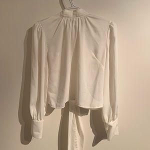 Dynamite open back blouse